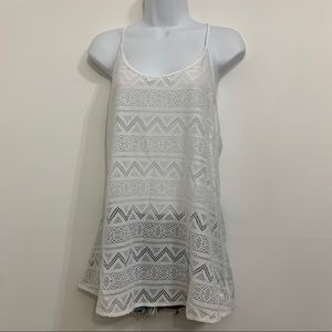 White tank top by Pink is like new. Size Large